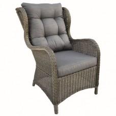 Wicker relax stoel Dalafield donker bruin