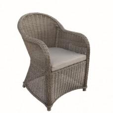 Wicker luxe stoel Davidson donker bruin