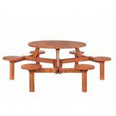 Hardhouten picknicktafel Rondo