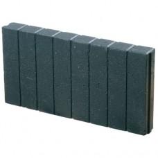 Miniquadroband palissade 6x25x50 cm zwart
