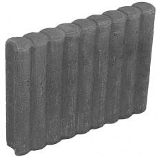 Rondoband palissade 8x50x50 cm zwart