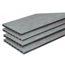Vlonderplank composiet extra breed 2,1x25x400 cm Oud grijs